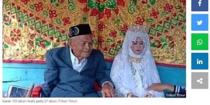 103歲老翁迎娶27歲新娘引熱議 網友:彩禮多少錢?