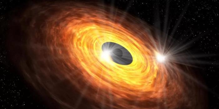 银河系中心的黑洞可能正向我们 眨眼
