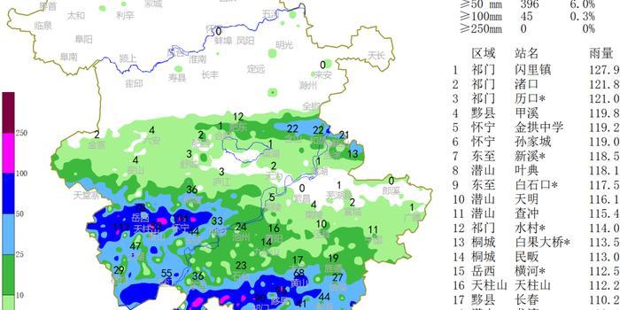 安徽多地出现大暴雨 预计未来三天仍有持续性强降水