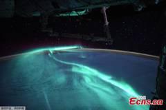 Astronaut shares surreal images of rare auroras