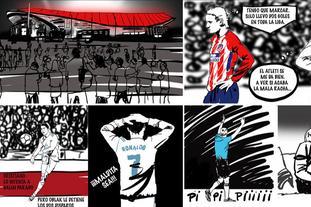 漫画带你回顾马德里德比大战