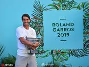 纳达尔拍摄2019法网冠军写真
