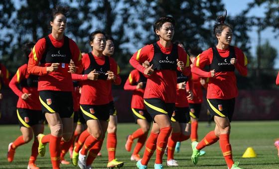 中國女足香河集訓 備戰東京奧運會