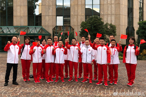 中国体操队庆新中国七十华诞