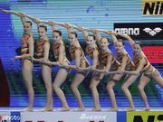 世锦赛花样游泳集体自由自选 中国亚军