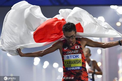 田径世锦赛男子20公里竞走 日本选手夺金