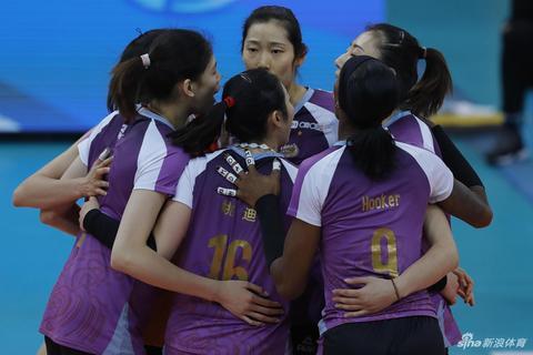 新浪直击天津女排3-2北京进决赛