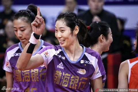 女排决赛天津3-1上海夺冠