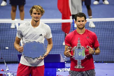 美网男单颁奖——蒂姆首夺冠