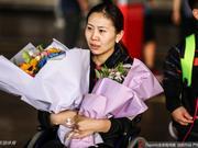 中国残疾人羽毛球队抵京