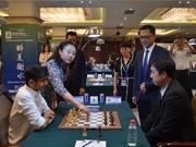 高清-大师赛国象超快棋赛第2日 衡水市副市长崔海霞为比赛开棋