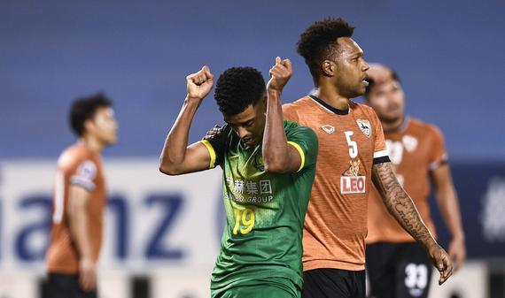 [亚冠]北京国安1-1清莱联 阿兰补时点球射失