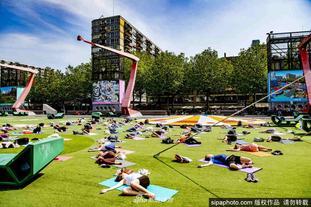 荷蘭鹿特丹廣場提供免費瑜伽課
