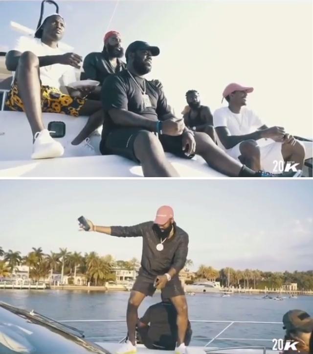 哈登游艇度假请13舞娘