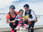 黄小蕾完赛黄金海岸马拉松5.7公里组