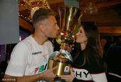 拉齐奥夺意大利杯冠军庆祝宴