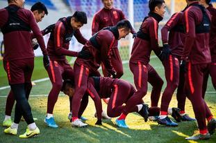 选拔队轻松备战韩国