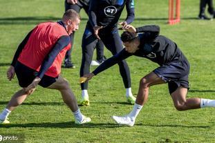 英格兰训练备战欧预赛