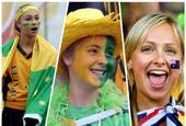 袋鼠王国 盘点澳大利亚队美女球迷