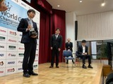 幻灯-最强棋士战赛后颁奖 朴廷桓捧杯