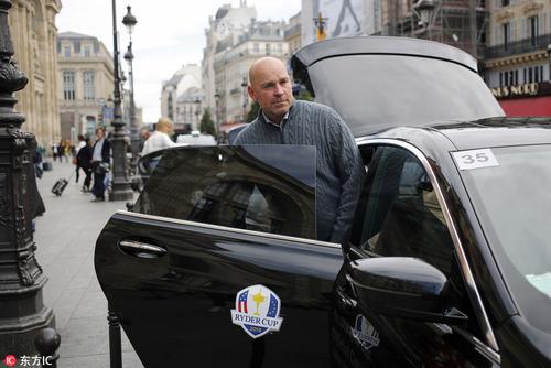 莱德杯欧洲队队长比约恩抵达巴黎