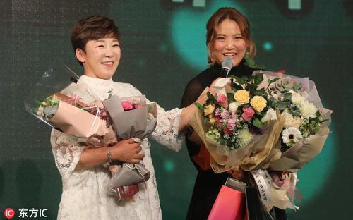 女子韩巡颁奖盛典球员盛装出席