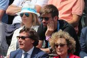 皮克观战ATP巴塞罗那公开赛