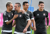 拜仁训练备战欧冠对阵皇马