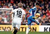 [西甲]瓦伦西亚0-0西班牙人 武磊首发险破门