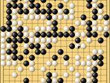 动图棋谱-腾讯AI围棋赛复赛 绝艺暴力破模仿击败AQ