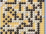 动图棋谱-梦百合杯32强战 柯洁执白中盘胜时越