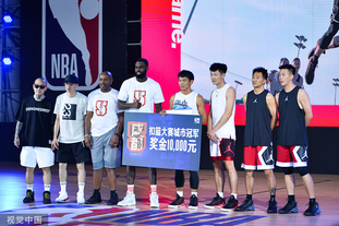 蒂姆哈达威助阵 NBA5v5篮球赛
