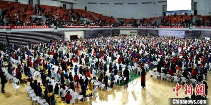 青海近两千名围棋少年同场竞技 展开上万盘比赛