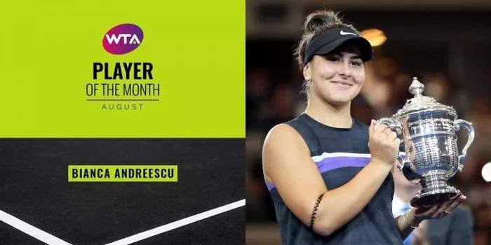 安德莱斯库当选八月WTA最佳球员 在美网首夺大满贯