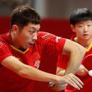 國乒奧運模擬賽混雙今日出首金 男女單32強揮拍