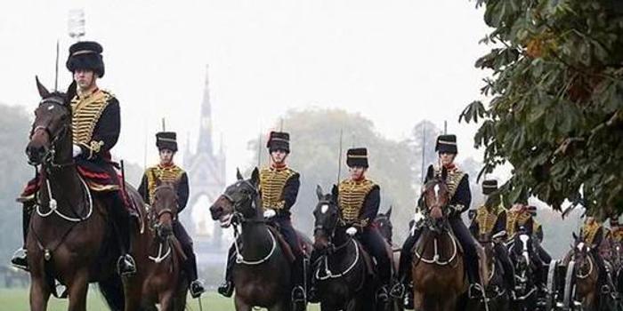 90多岁的骑马爱好者,英国女王检阅皇家骑兵卫队