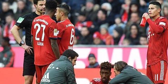 拜仁确认主力边锋肌肉撕裂 无缘欧冠再战利物浦