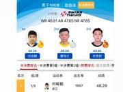 何峻毅100自48秒29!宁泽涛之外中国最快选手