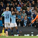 欧冠-曼城半场0-2落后里昂