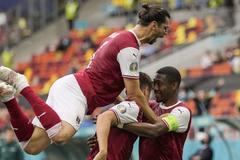 欧洲杯-中超前锋复出丢单刀 奥地利胜乌克兰出线