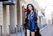 女星韩雪造访国米总部:Forza Inter!!