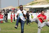 德罗巴出席足球友谊赛宣传和平