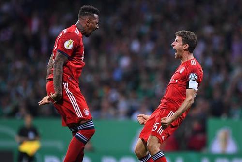 拜仁进德杯决赛 这庆祝很二娃