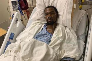 杜兰特跟腱断裂已接受手术