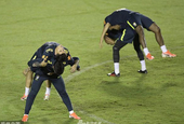 巴西队训练备战怪招频出