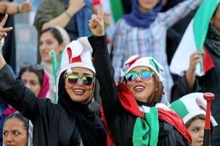 梦想成真!伊朗女球迷现场观战