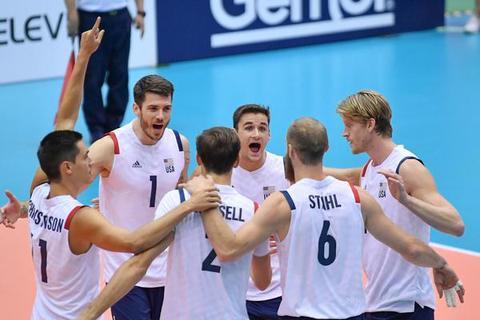 男排世界杯美国男排3-2险胜加拿大