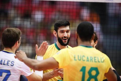 男排世界杯巴西男排提前一轮夺冠