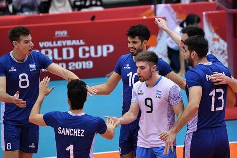 男排世界杯阿根廷3-1埃及