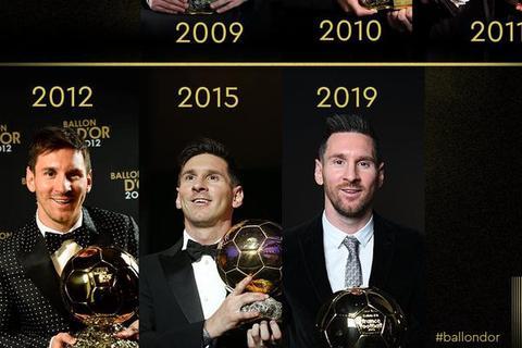从1到6 梅西的金球奖传奇历程